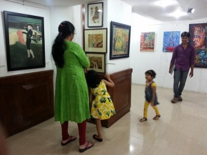 In Bengalore art show