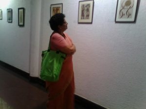 At Ailamma art gallery solo exhibition& coverage Print editions.