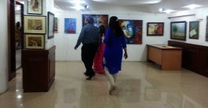 In Bengalore art exhibition