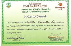 Chitramela participating certificate [at State art gallery hyde
